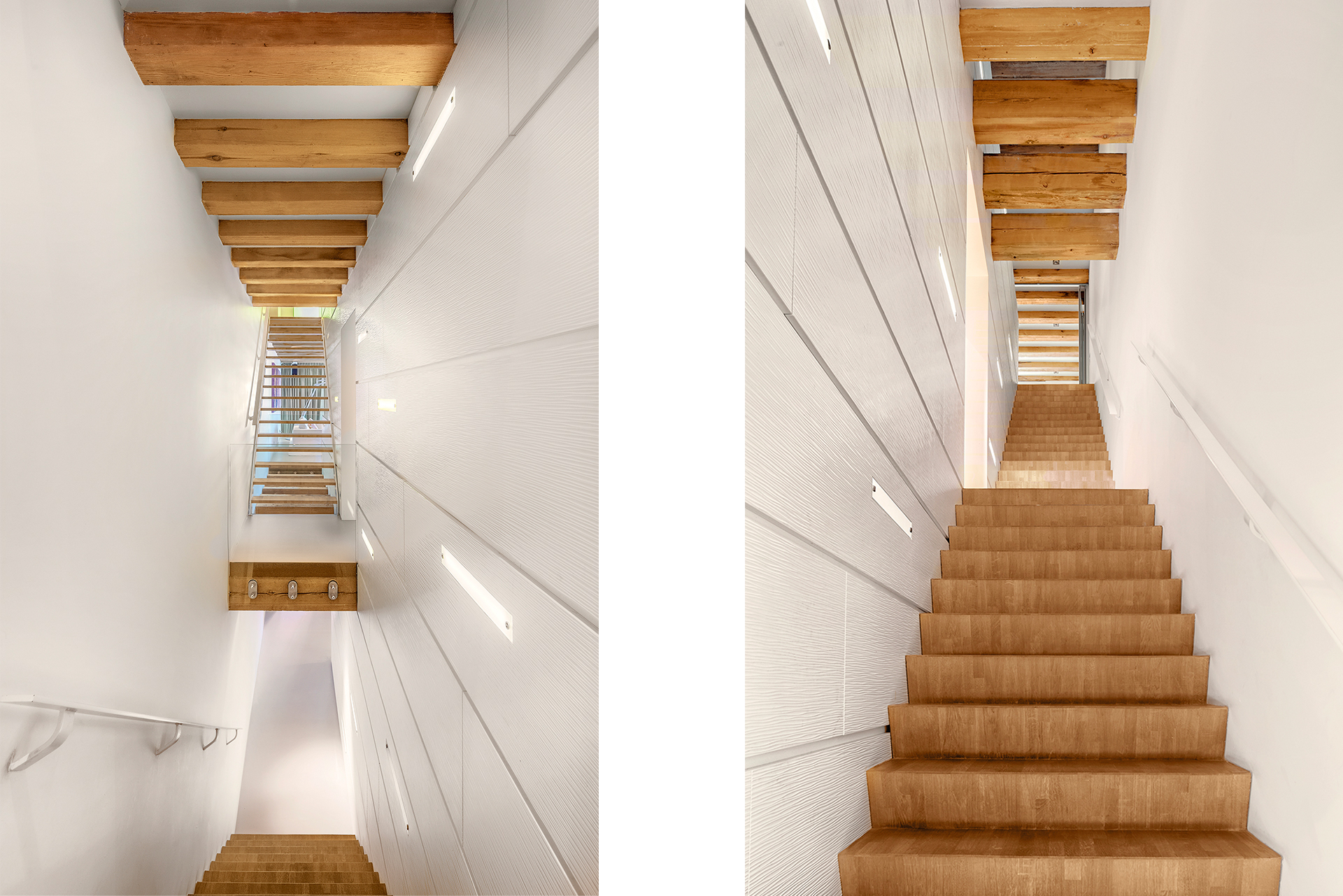 narrow staircases of amsterdam warehouse apartment
