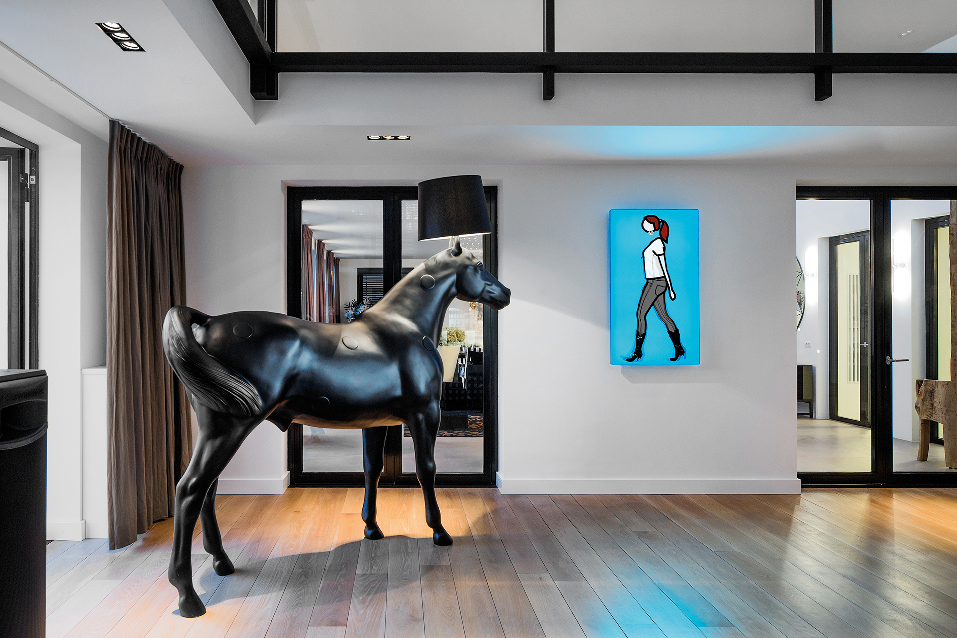 A horselamp by Moooi sure to attract attention