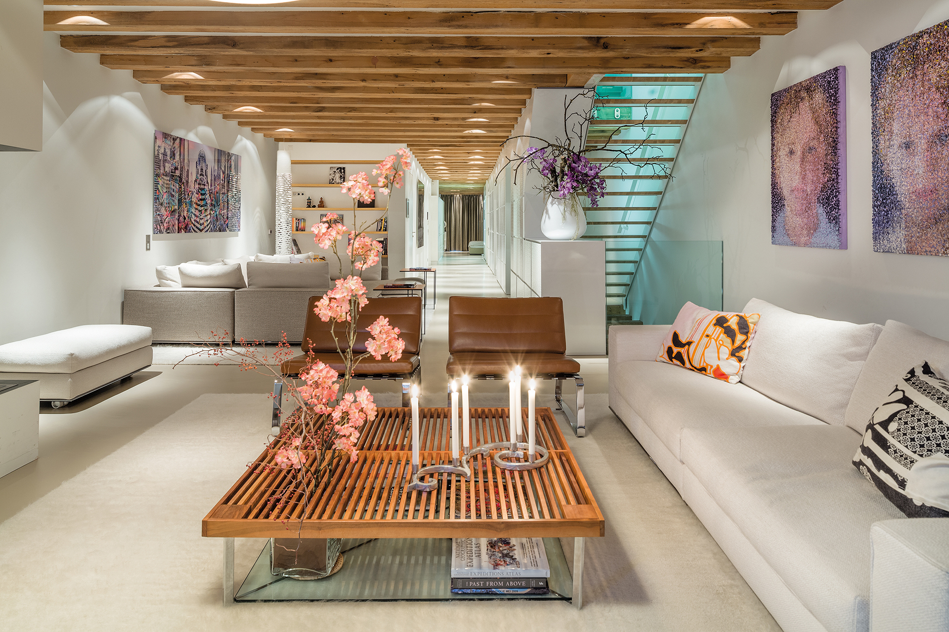 Living room centered shot