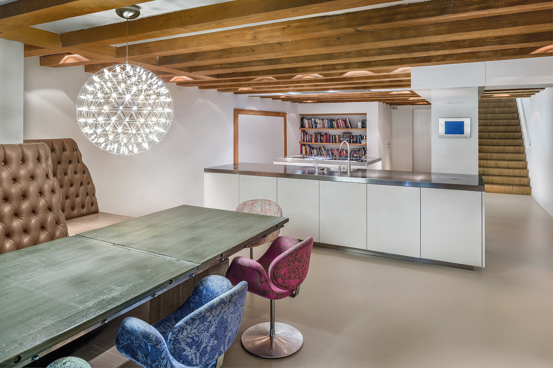 Kitchen and dining room at the groundfloor